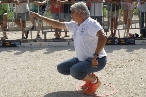 Marco Foyot, une des têtes d'affiche de cette 55 ème édition du Mondial à Pétanque.