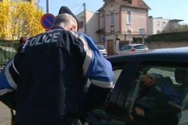 Un contrôle de police à Dijon
