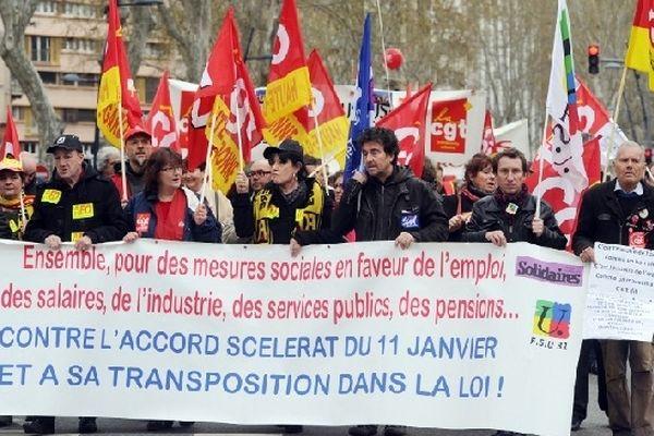 Près de 3000 personnes mobilisées à Toulouse contre la loi sur l'emploi.