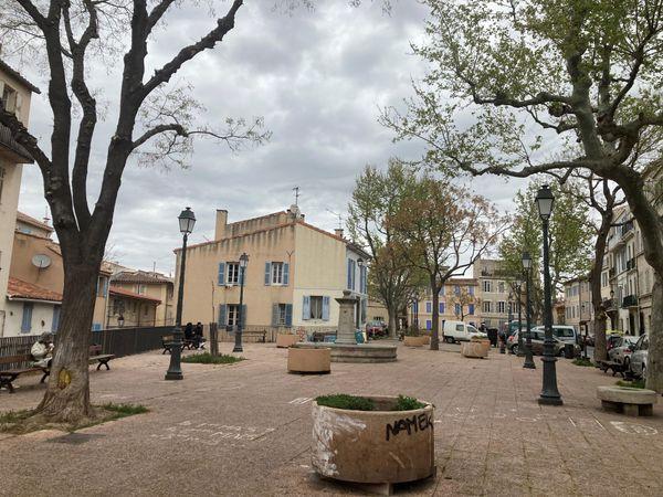 Le quartier touristique du Panier, désespérément vide.
