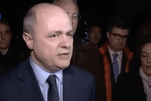 Bruno Le Roux en Vendée après le double carambolage du 20 décembre 2016