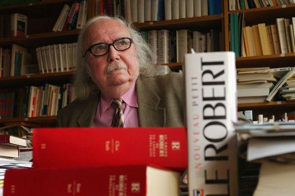"""Le célèbre linguiste et membre fondateur du dictionnaire """"Le Robert"""" Alain Rey, originaire de Pont-du-Château (Puy-de-Dôme), est décédé."""