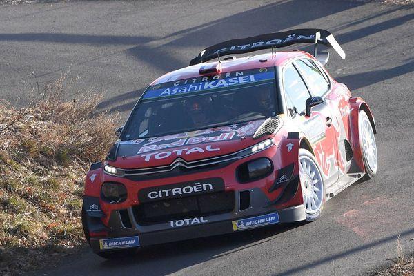 24/01/2019 - Le pilote Sébastien Ogier and son co-pilote Julien Ingrassia (Citroen C3 WRC), lors du shakedown à Gap du 87ème Rallye Monte-Carlo