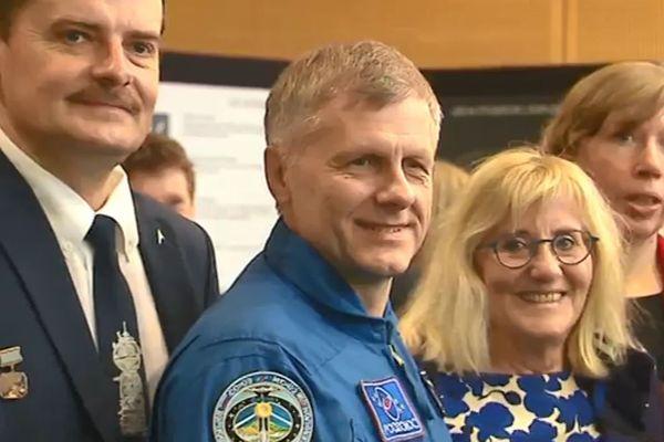 Le cosmonaute Andreï Borissenko était à Nancy samedi 5 octobre 2019 pour parler de son expérience à bord de la station internationale.