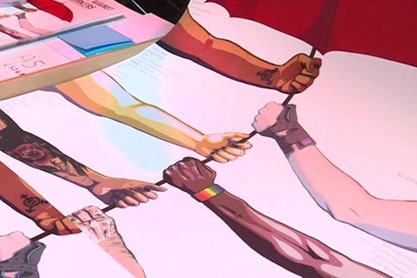 Le Festival SNAP se tient à Paris jusqu'au 4 novembre. Affiche du syndicat des travailleurs sexuels, le Strass.