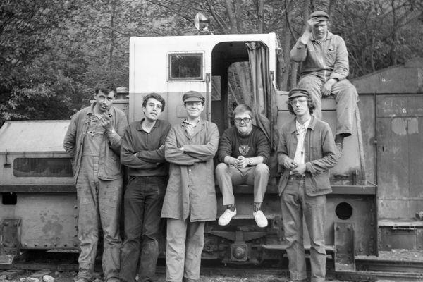 Les bénévoles du tout premier train, en 1971