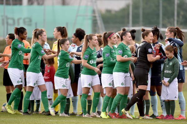 Saint-Étienne 08/12/2019 - L'équipe féminine de l'ASSE affronte Le Havre lors du match de championnat de division 2.