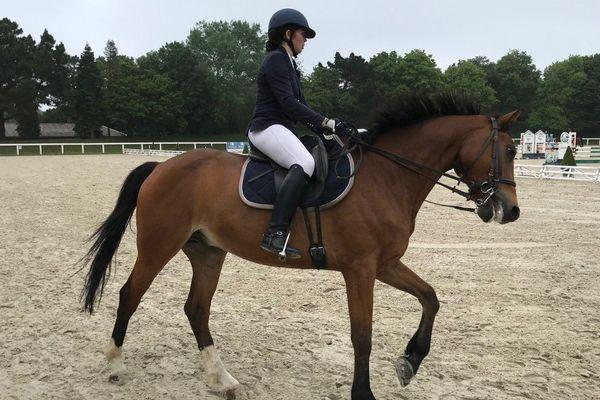 Concours de dressage au Championnat de France universitaire d'équitation