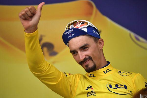 Julian Alaphilippe, coureur originaire de Montluçon, a porté le maillot jaune 14 jours sur le Tour de France 2019.