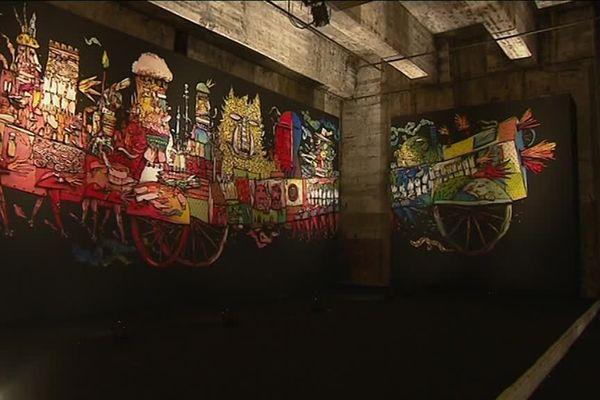 """Le street art s'invite à la base sous-marine. Les """"Légendes urbaines"""" jusqu'au 16 septembre."""