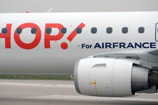 ILLUSTRATION - HOP! regroupe sous un même chapeau les compagnies régionales d'Air France, Airlinair, Brit Air et Régional