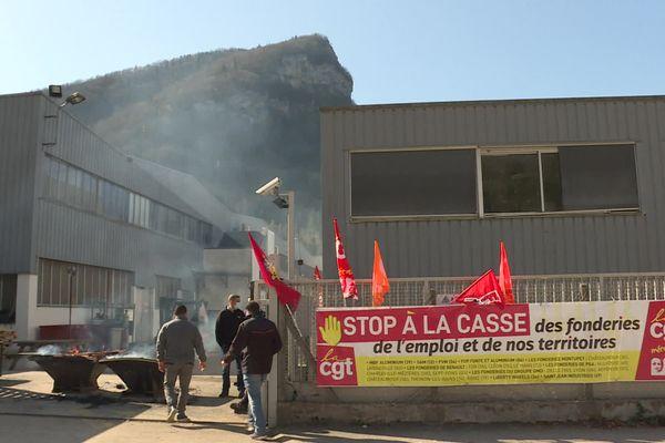 La fonderie MBF Alu à Saint-Claude, dans le Haut-Jura