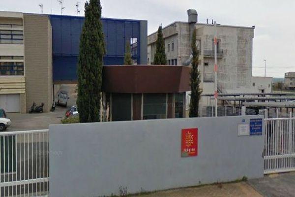 Le lycée Joliot-Curie à Sète d'après  Google street vue