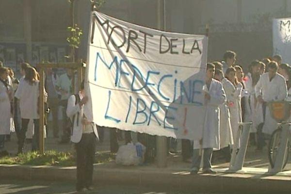 Montpellier - manifestation des internes en médecine - 20 novembre 2012.