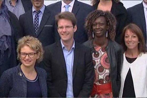 Photo de famille lors de la présentation des candidats seino-marins au Havre.