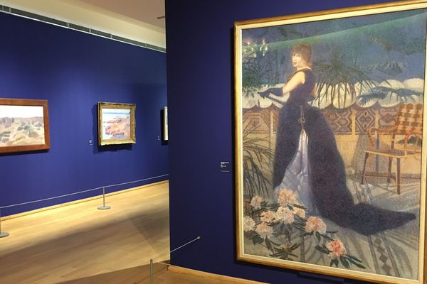 Des toiles, dessins et aquarelles