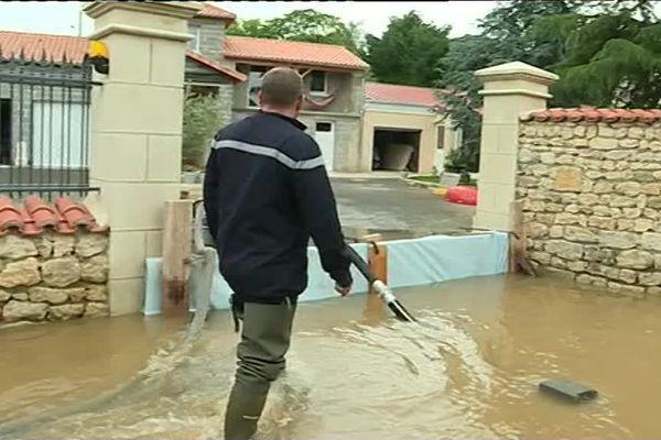 De nombreuses maisons ont été inondées à St-Généroux dans le nord des Deux-Sèvres.