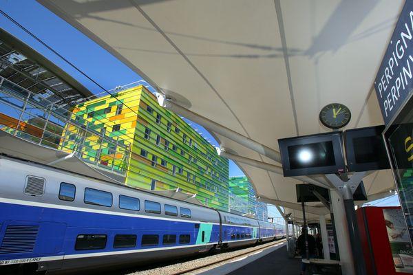 La gare TGV de Perpignan