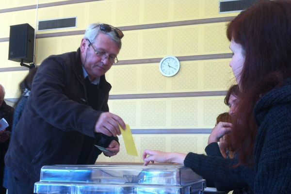 L'heure de la votation à Saint-Viaud ce matin.