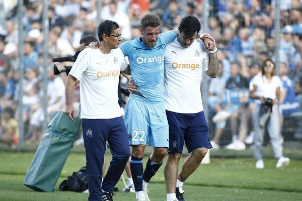 Lucas Ocampos et Grégory Sertic (photo) ont été touchés, respectivement à la cheville et au genou, lors d'un match de préparation disputé à Clermont-Ferrand face à l'AS Saint-Etienne.