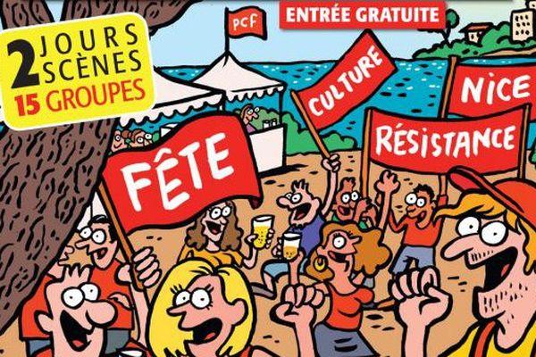 L'affiche de la 70e édition de la Fête du Château organisée en 2016.