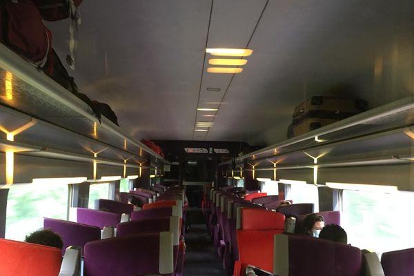 Rame du TGV Nantes-Paris, lundi 11 mai.