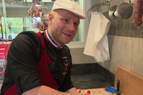 Godefroy Piaton a décroché le titre de Meilleur Ouvrier de France (boucherie)