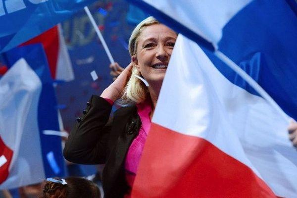 Marine le Pen à la Baule lors de l'Université d'été de son parti.
