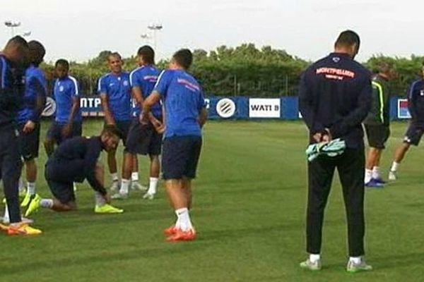 Montpellier - les joueurs du MHSC à l'entraînement - septembre 2015.