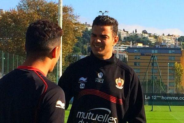 Hatem Ben Arfa à l'entrainement au lendemain de l'annonce de sa sélection