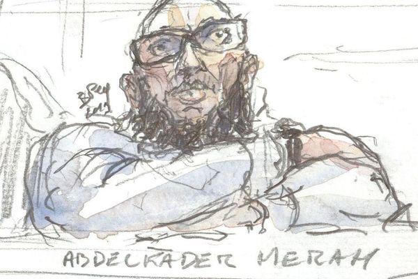 Abdelkader Merah pendant son procès en mars 2019.