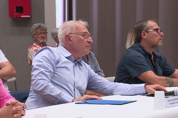 Jean-Louis Meizonnet lors du conseil municipal d'installation du maire, dimanche 5 juillet