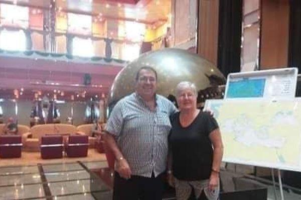 Patrick et Michèle Contini à bord du Costa Deliziosa