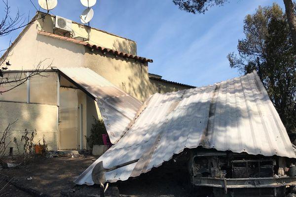 Deux habitations ont été endommagées par les flammes à Grabels - 7 septembre 2017