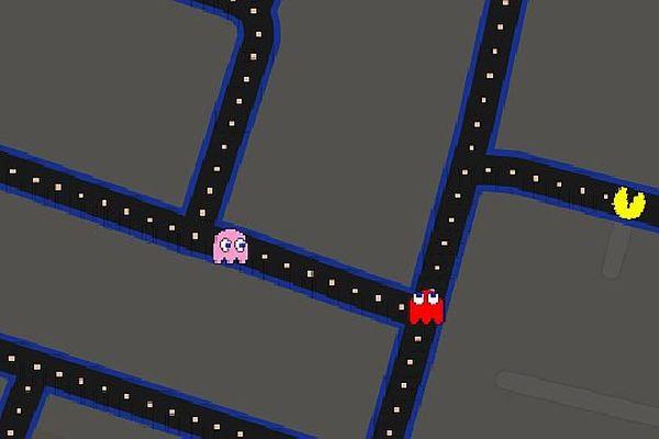 Les rues de Dijon, Mâcon, Auxerre, Nevers, etc, se transforment en labyrinthe du jeu vidéo Pac-Man.