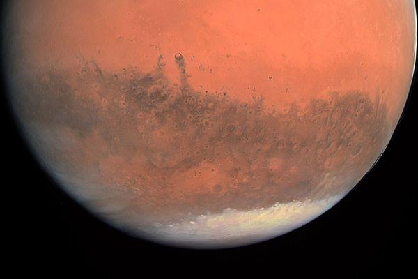 Une image de mars capturée par l'instrument Osiris, de la sonde Rosetta, en 2007.