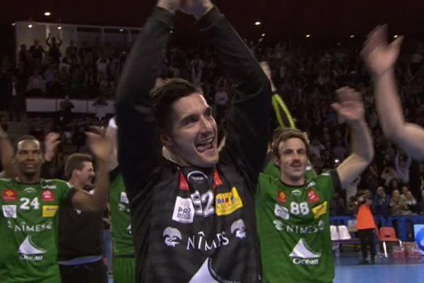 Célébration après la victoire.