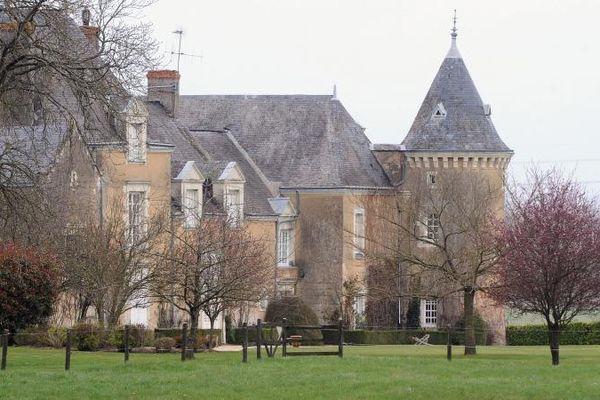 Le manoir de Beaucé, propriété de François Fillon, à Solesmes, près de Sablé-sur-Sarthe, le 10 avril 2013