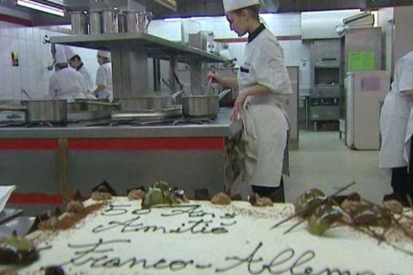 Le lycée hôtelier de Chamalières a mis les petits plats dans les grands pour fêter comme il se doit le 50ème anniversaire du traité de l'Elysée.