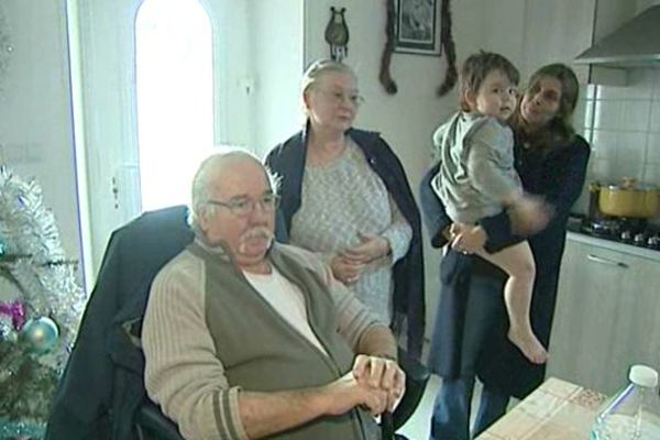 Les Blanchard chez leur fille après l'incendie à Brantôme de leur habitation