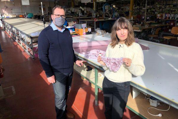 """Le groupe Chantelle collabore avec Marine Neuilly, la créatrice de la marque """"La Chatte de Françoise"""". Avec cette activité de sous-traitance, le site d'Epernay, dont Stephan Rigot est le directeur, espère relancer son activité et à terme, recruter."""