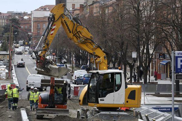 Le chantier des ramblas avance à Toulouse