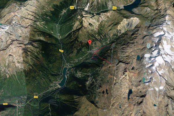 Une avalanche a traversé la route D43A menant à Vaujany.