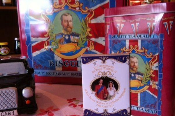La famille royale d'Angleterre fait l'objet de nombreux produits dérivés