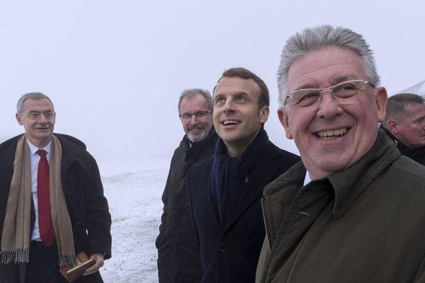 Jean-Yves Gouttebel avait accompagné Emmanuel Macron lors de sa visite en Auvergne en janvier 2018.