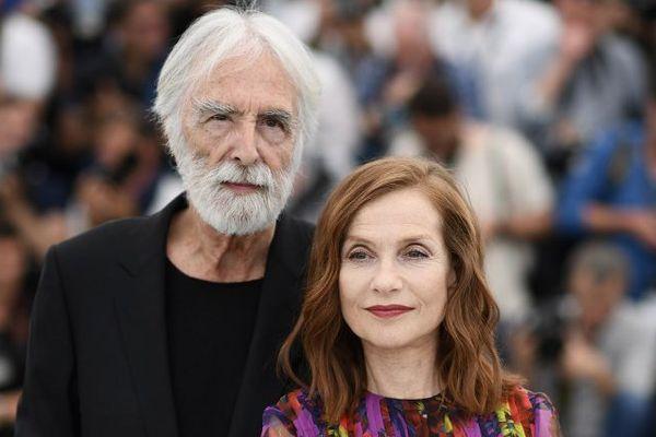 Mickaël Haneke et Isabelle Hupert à Cannes.