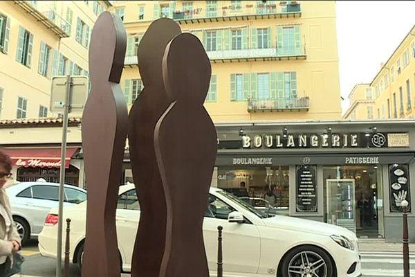 Des sculptures d'art contemporain ornent désormais la rue Alexandre Mari