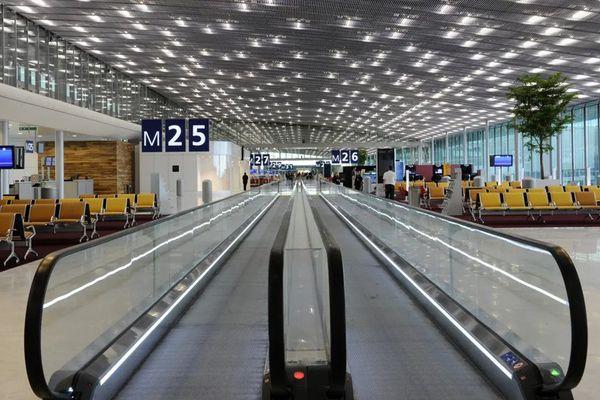 Portes d'embarquement de l'aéroport Roissy-Charles-De-Gaulle. Photo d'illustration. AFP