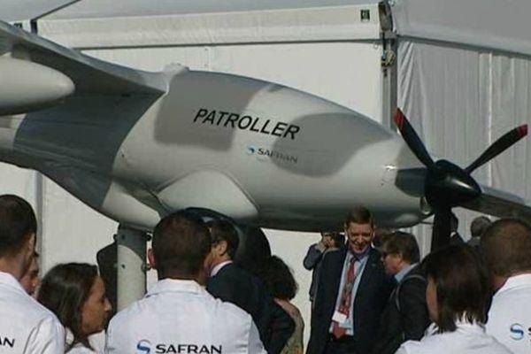 L'usine Sagem a présenté son nouveau modèle de drone, lors de la journée portes ouvertes du 03/10/2014