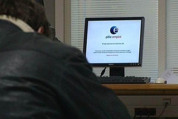 Une agence Pôle emploi en Bourgogne.